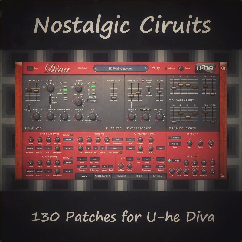 Nostalgic Circuits - 80's sounds for U-He Diva    Synthmob
